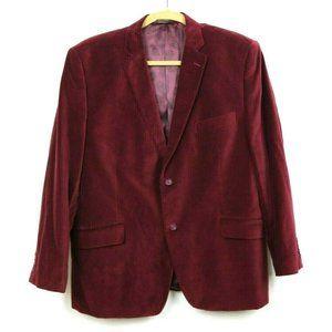 Cosani Mens Suit Jacket Velvet Long Sleeve Buttons